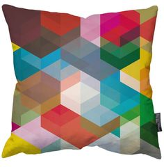 """Simon C Page """"Cuben Pillow"""" Limited Edition Art Cushion 18"""" - 45cm x 45cm"""