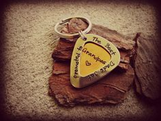 Best Grandpas Guitar Pick Hand Stamped by CharmletteDesigns, $18.00