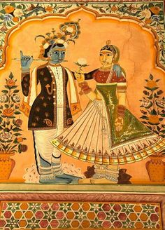 Wall painting in a Haveli (sort of Palace), in Jhunjhunu, Rajasthan