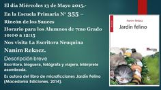 #PROYECTO365: 128 - LA CONFERENCIA Photo And Video, Free, Upper Elementary, Writers, Gardens