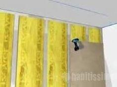 Isolamento acústico Parede.  Finalidade: Reduzir ruídos do andar de cima. Em estúdios de som atenua o ruído para outros ambientes.