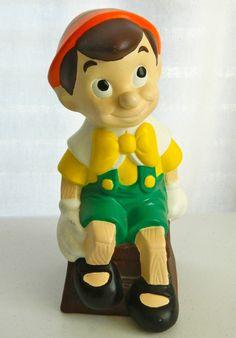 "Vintage 1977 9"" Walt Disney Pinocchio Hand Painted Ceramic Statue Very Good | eBay"