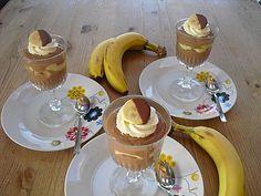 Nutella - Mascarponecreme mit QimiQ (Rezept mit Bild) | Chefkoch.de Pancakes, Food And Drink, Ice Cream, Breakfast, Panna Cotta, Kitchen, Deserts, Chef Recipes, Dessert Ideas