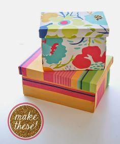 Aprenda a revestir uma caixa em MDF com tecido. Tudo passo a passo com fotos detalhadas para você fazer em casa agora.