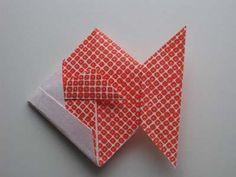 Origami Goldfish Folding Instructions - How to Make Origami Goldfish How To Make Origami, Diy Origami, Origami Paper, Origami Goldfish, Octonauts Party, Diy And Crafts, Paper Crafts, Origami Instructions, Diy Tutorial