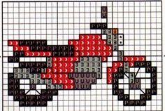 Mini Cross Stitch, Cross Stitch Cards, Simple Cross Stitch, Cross Stitching, Motifs Perler, Perler Patterns, Loom Patterns, Beading Patterns, Easy Cross Stitch Patterns