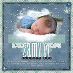 Scrapbook cover idea, AND if I ever have another boychild, I'm gonna name him Sam...