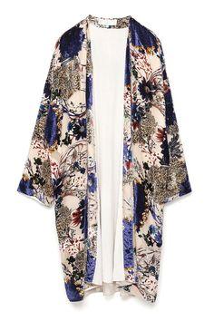 Devore Kimono, £59.99, Zara #SS15