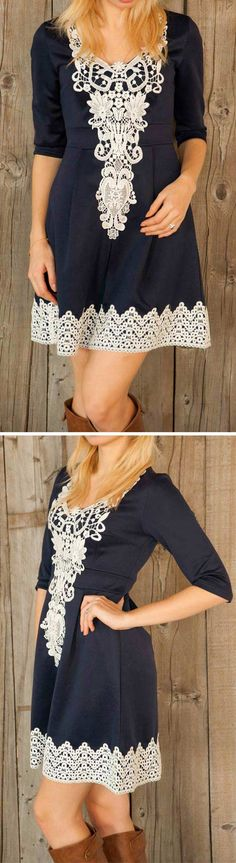 Should be easy to DIY. Basic dress and add lace details. Cute Girl Outfits, Cute Summer Outfits, Pretty Outfits, Cool Outfits, Dress Skirt, Lace Dress, Dress Up, Paisley, Lovely Dresses