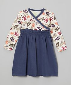 Another great find on #zulily! Blue Leaves Organic Surplice Dress - Infant, Toddler & Girls #zulilyfinds