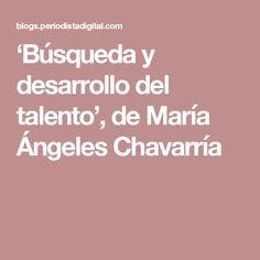 'Búsqueda y desarrollo del talento', de María Ángeles Chavarría