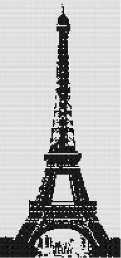 The Eiffel Tower - a counted cross stitch pattern. $9.00, via Etsy.