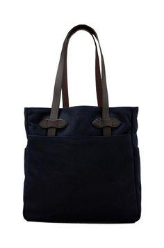 Filson Tote Bag in Navy   REVOLVE