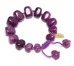 Lola Rose Glenda Bracelet in Jewelled Purple Magnesite- £35.00 http://www.lolarose.co.uk/new-arrivals/glenda-bracelet