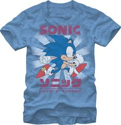 SONIC THE HEDGEHOG: KANJI CLASSIC 22/4 $19.95 To know more go http://streetlegaltshirts.com/ #T #Shirts #tshirt #t-shirt #movie