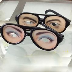 1 Piece 2017 Gags Practical Jokes Hot Sale Crazy Eye Ball Big Frame Glasses Prank Funny Novelty Halloween Cosplay Party