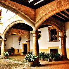 Patio interior de una palacete señorial en Palma de Mallorca