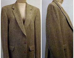 70's Mens Green Cotton Sport Coat by Sir Walter Size 38 R | Sport ...