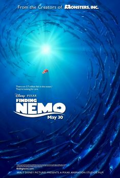 Finding Nemo on DVD November 2003 starring Geoffrey Rush, Ellen DeGeneres, Willem Dafoe, Barry Humphries. The comedic and eventful journeys of two fish - Marlin and his son Nemo - who become separated in the Great Barrier Reef when Nemo is unexpe Film Pixar, Pixar Movies, Disney Movies, Disney Wiki, Childhood Movies, Finding Nemo Poster, Finding Nemo Movie, Finding Dory, Internet Movies