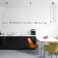 Kitchen Wall Decals | Our Kitchen Is For Dancing - Wall Decals