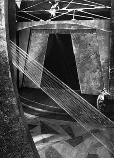 The Martian royal palace set in Aelita (1924, dir. Yakov Protazanov, art director Alexandra Exter), one of the earliest science fiction film...