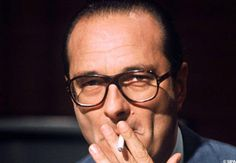 Chirac et sa clope.