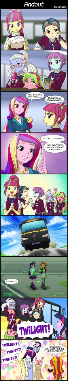 The Cystal Prep High School Girls missed EG Twilight Spakle. But, they pick the wrong   EG Twilight Spakle (is the human version of pony Princess Twilight Sparkle). The alternate ending version of MLPEG 3 Friendship Games.