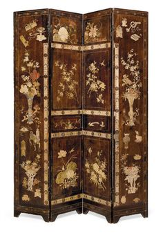A CHINESE COROMANDEL LACQUER FOUR-FOLD SCREEN - 19TH CENTURY