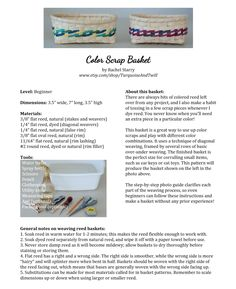 A FREE pattern for an adorable little basket using scraps of colored reed from other projects - check it out!