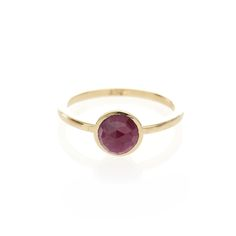 Dear Rae // Indian Ruby 9ct yellow gold ring