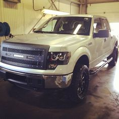 Truck from yesterday all cleaned up and ready to be sold!  #rigidindustries #fuelrims #ford #F150 #ctpgp #anzoheadlights #linex