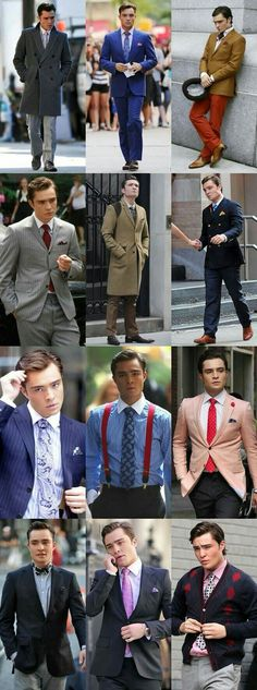 """"""" Chuck Bass was one of the lead characters in the hit TV show Gossip Girl. Portrayed by Brit actor and former FashionBeans Style Icon Ed Westwick"""" . I'm Chuck Bass, Estilo Chuck Bass, Chuck Bass Style, Gossip Girls, Estilo Gossip Girl, Gossip Girl Chuck, Gossip Girl Style, Gossip Girl Memes, Fashion Mode"""