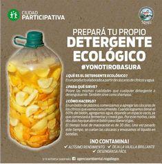 Detergente ecológico casero de naranja y cítricos