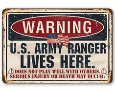Us Army Rangers, Peace Flag, Porch Wall, Command Strips, Metal Tins, Aluminum Metal, Sign Printing, Tomball Texas, New Sign