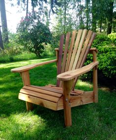 Handcrafted Cedar Adirondack Chair