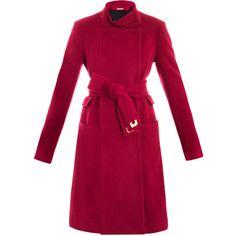 Diane Von Furstenberg Sabrina coat ($883) ❤ liked on Polyvore