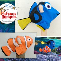 Disfraz de Delfín y de Peces – disfracesquenquen.com Wordpress, How To Make, Nemo Costume, Dolphins, Entryway, Costumes