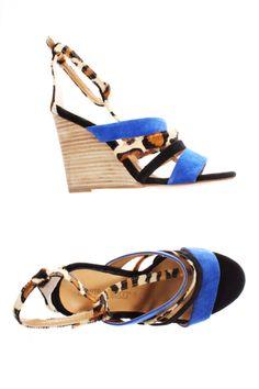 Chaussures Sandales/Nu pieds ILARIO FERUCCI - couleur BLEU - matiere Autre