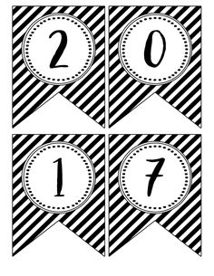 Print the Gradutaion Banner Free Printables . Free Printable banner flags for a black and white gradutaion party.{ 2016 Graduation Banner } here Graduation Banner, Graduation Party Decor, Grad Parties, College Graduation, Printable Banner Letters, Printable Paper, Happy New Year Banner, Happy Birthday Signs, Wall Banner