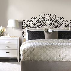 RoomMates RMK2742SLM Modernized Headboard Peel and Stick Giant Wall Decals -- Find out more about the great product at the image link.Note:It is affiliate link to Amazon.