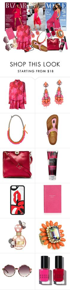 """Feel The Heat <33"" by brownish ❤ liked on Polyvore featuring Thakoon, Radà, Lanvin, Birkenstock, Valentino, Korres, RED Valentino, Smythson, Marc Jacobs and Rodrigo Otazu"