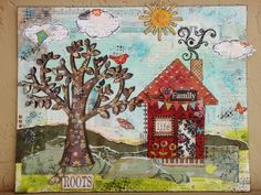 """SOD Mixed Media Canvas (500x375) so many cool details.. love the """"smoke"""" coming from the chimney"""