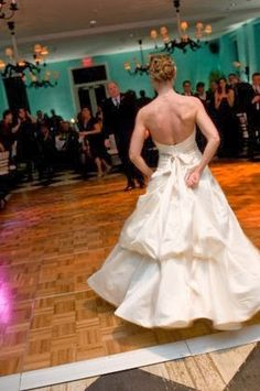 French Bustle On A Wedding Gown