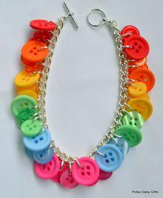 Button Bracelet - Various colours available - The Supermums Craft Fair