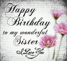 happy birthday sister dp