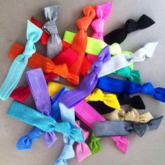 50 Wholesale Solid Hair Ties-Ponytail Holders by Elastic Hair Bandz on Etsy