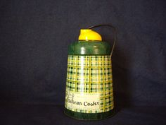 Sale  Vintage Thermos Retro Plaid Yellow and Green by 1260So11th, $22.00