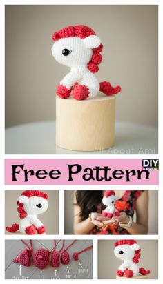 Adorable Crochet Pony – Free Pattern #freecrochetpatterns #pony #crochetamigurumi #giftidea