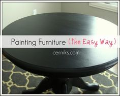 Guide and tips to the best furniture painting job.