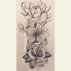 tatouage fleurs Hand Tattoos, Arm Sleeve Tattoos, Rose Tattoos, Flower Tattoos, Body Art Tattoos, Rose Drawing Tattoo, Tattoo Sketches, Tattoo Drawings, Rose Tattoo Forearm